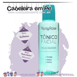 Tônico Facial Peles Oleosas - Ruby Rose (Sem Sulfatos, Sem Petrolatos e Sem Silicones)