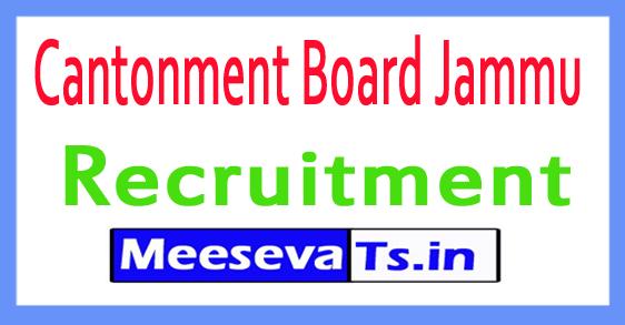 Cantonment Board Jammu