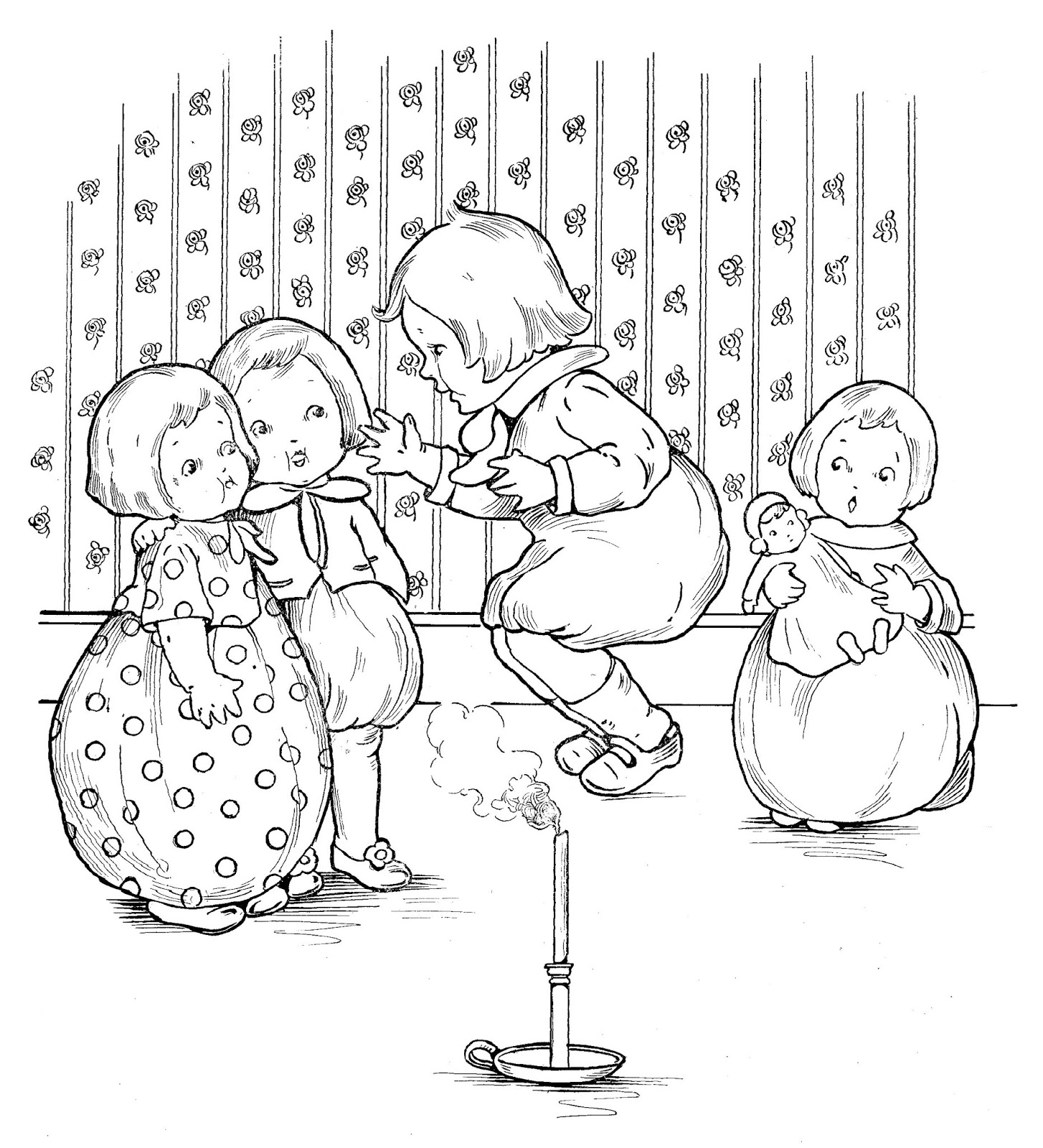 Digital Stamp Design Children S Digital Storybook Printables Jack And Jill