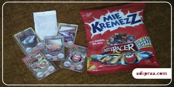 Gratis Kartu Game AR AsteRacer dari Mie KremezZ | adipraa.com
