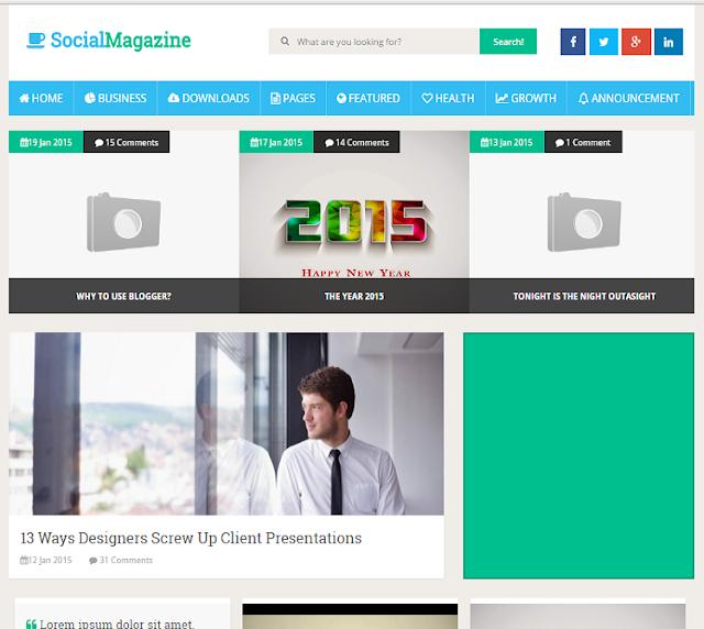 Social Mag Magazine Blogger Template