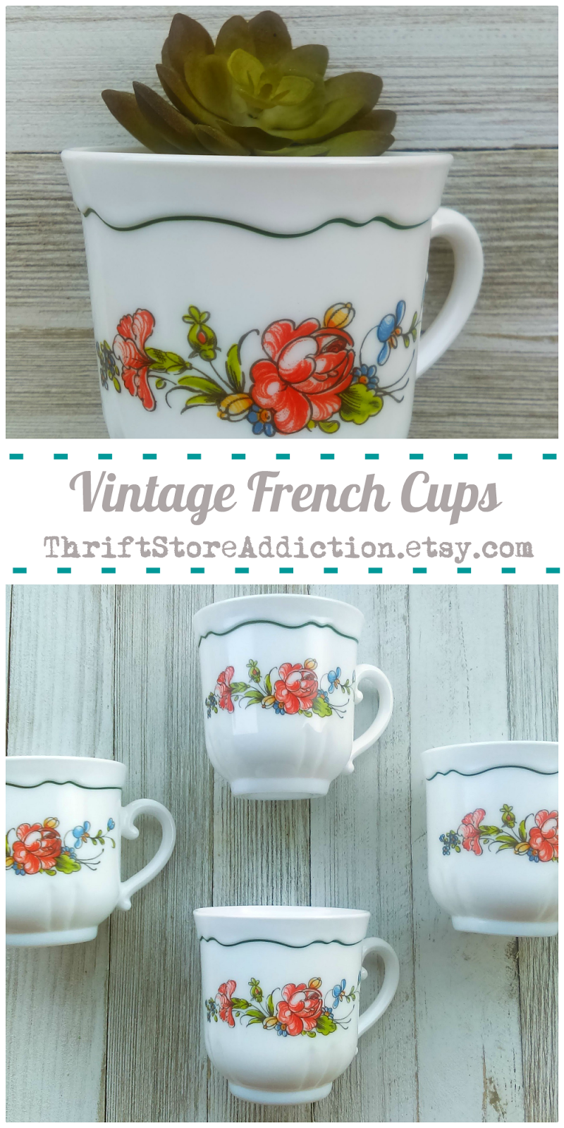 French cups available at thriftstoreaddiction.etsy.com