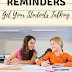 REMINDERS : Get Your Students Talking!