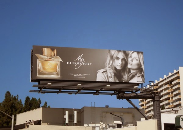 My Burberry perfume billboard