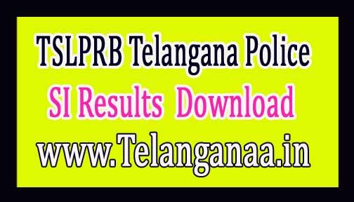 TSLPRB Telangana Police SI Results 2016