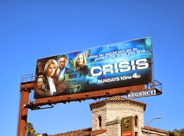 Crisis series launch billboard