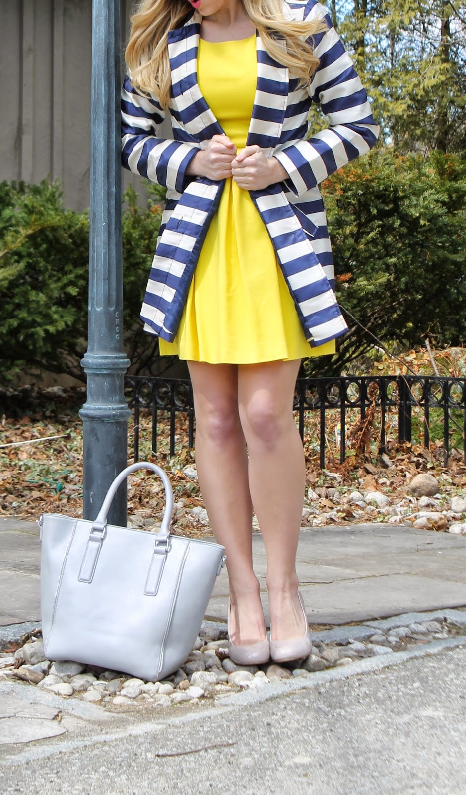 yellow-a-line-dress-summer-spring
