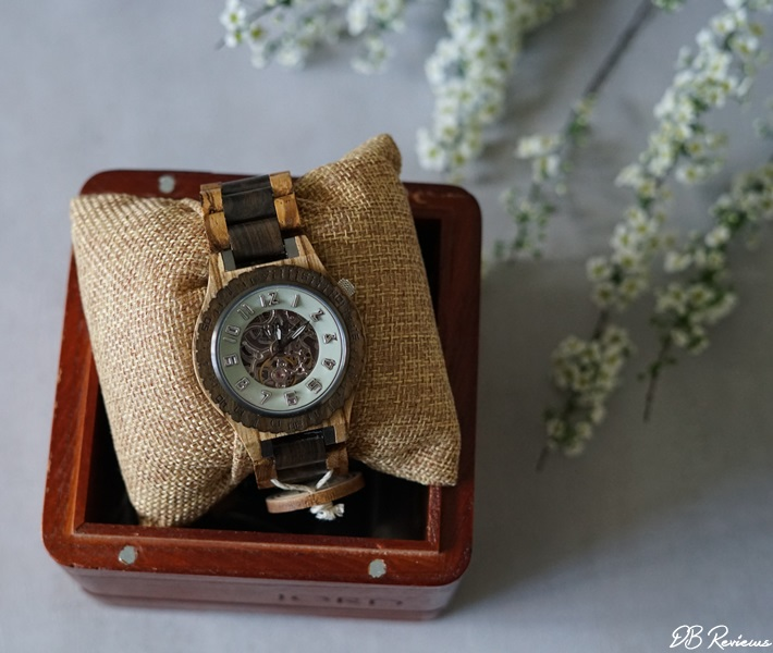 JORD - DOVER Zebrawood and Dark Sandalwood Watch