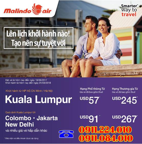 nơi bán vé khuyến mãi hãng Malindo Air giá từ 22 usd