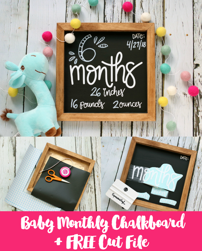 DIY Baby Month Chalkboard Sign Photo Prop