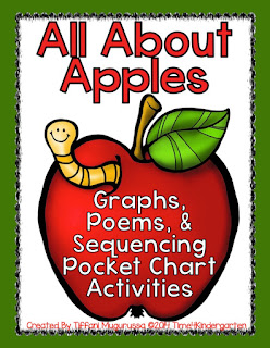 All About Apples: graphs, poems and sequencing activities for kindergarten