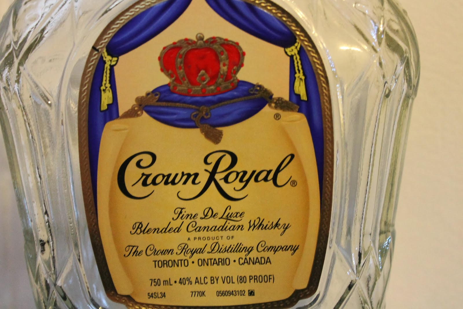 Typography Crown Royal Label Recreation