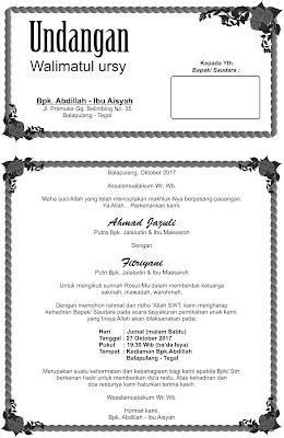 undangan walimatul ursy
