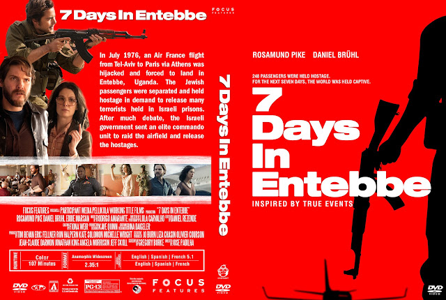 7 Days In Entebbe DVD Cover