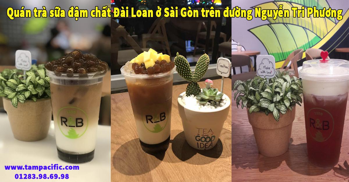 Quán trà sữa đậm chất Đài Loan ở Sài Gòn đường Nguyễn Tri Phương