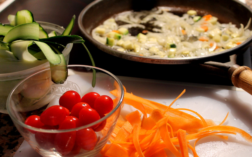 Pappardelle de verduras