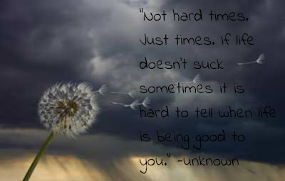 quotes image not hard times, just time, suck some times it is hard to tell when life is being good to you.