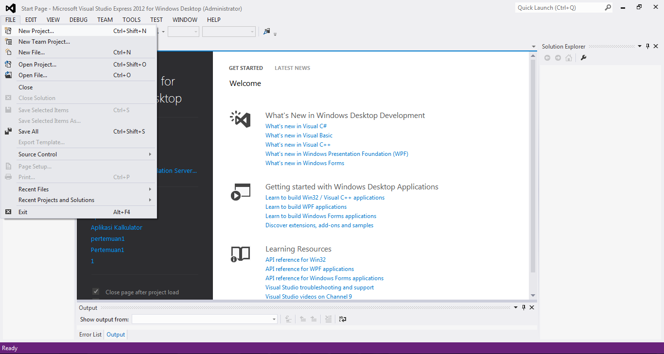 2 - Tutorial Menciptakan Kalkulator Dengan Visual Studio 2012