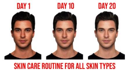 Men's Skincare routine to get clear and spotless skin as per skin type