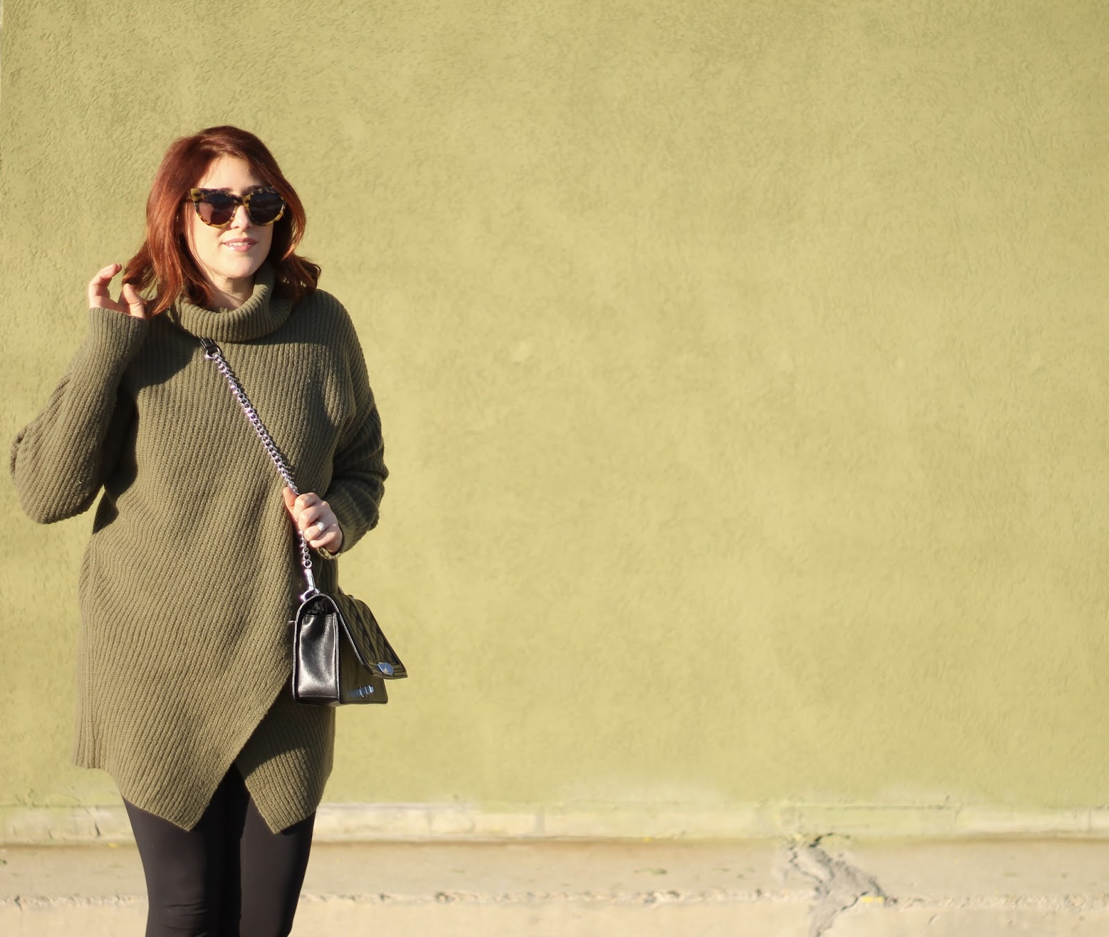 Athleisure outfit, banana republic wrap sweater karen walker, sunburst sunglasses rebecca minkoff love crossbody black