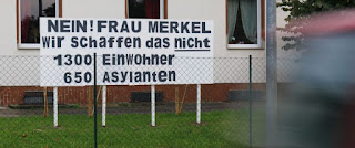 Protest sign in Vockerode, Germany