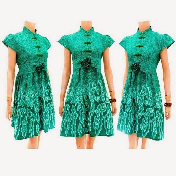 Harga Batik Tulis Asli: Dress Batik Wanita Tulis Asli