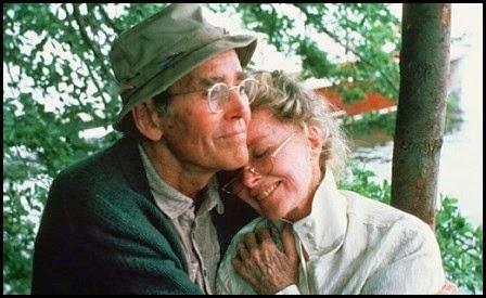Henry Fonda y Katherine Hepburn en En el estanque dorado (Mark Rydell, 1981)