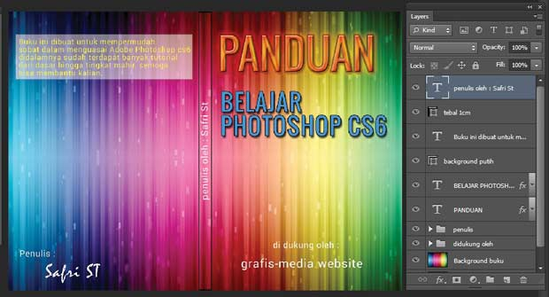 Cara menciptakan cover buku dengan photoshop Cara Desain Cover Buku Keren Dengan Photoshop