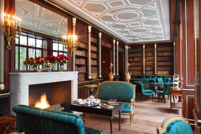 La reserve paris decoracion salon chimenea vintage