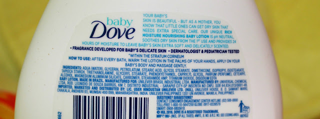 BABY DOVE RICH MOISTURE BABY LOTION REVIEW