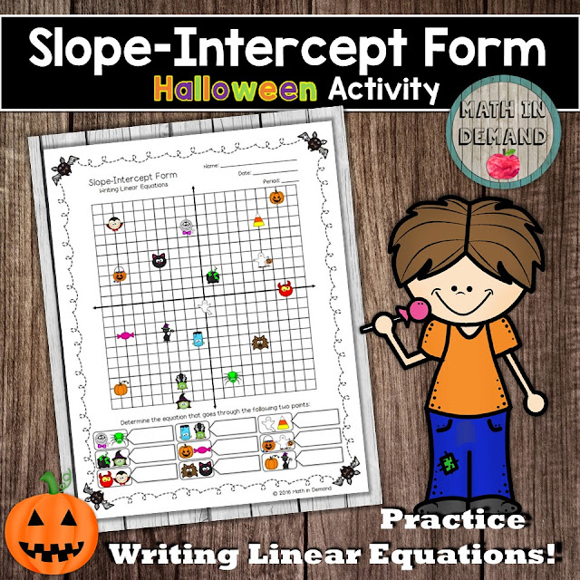 writing equations in slope intercept form when given two points Slope-intercept form: graphing lines given  finding the slope from a pair of points these linear equations worksheets are a good  writing linear equations.