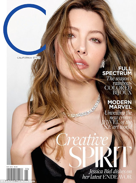 Actress, @ Jessica Biel C California Style Magazine May 2016
