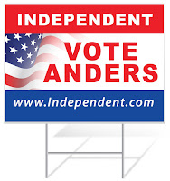 Vote Independent Political Lawn Sign Template | Lawnsigns.com