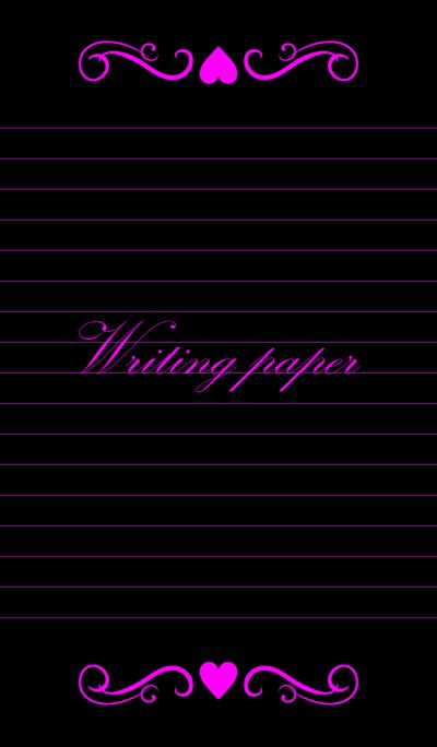 Writing paper-Vividpinkpurple-