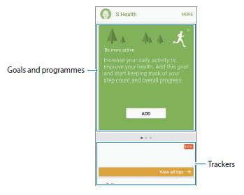 Using S Health