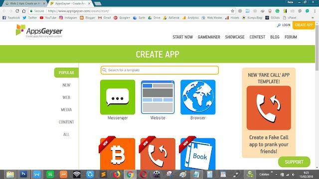 Ubah website blog jadi APK android menggunakan AppGeyser