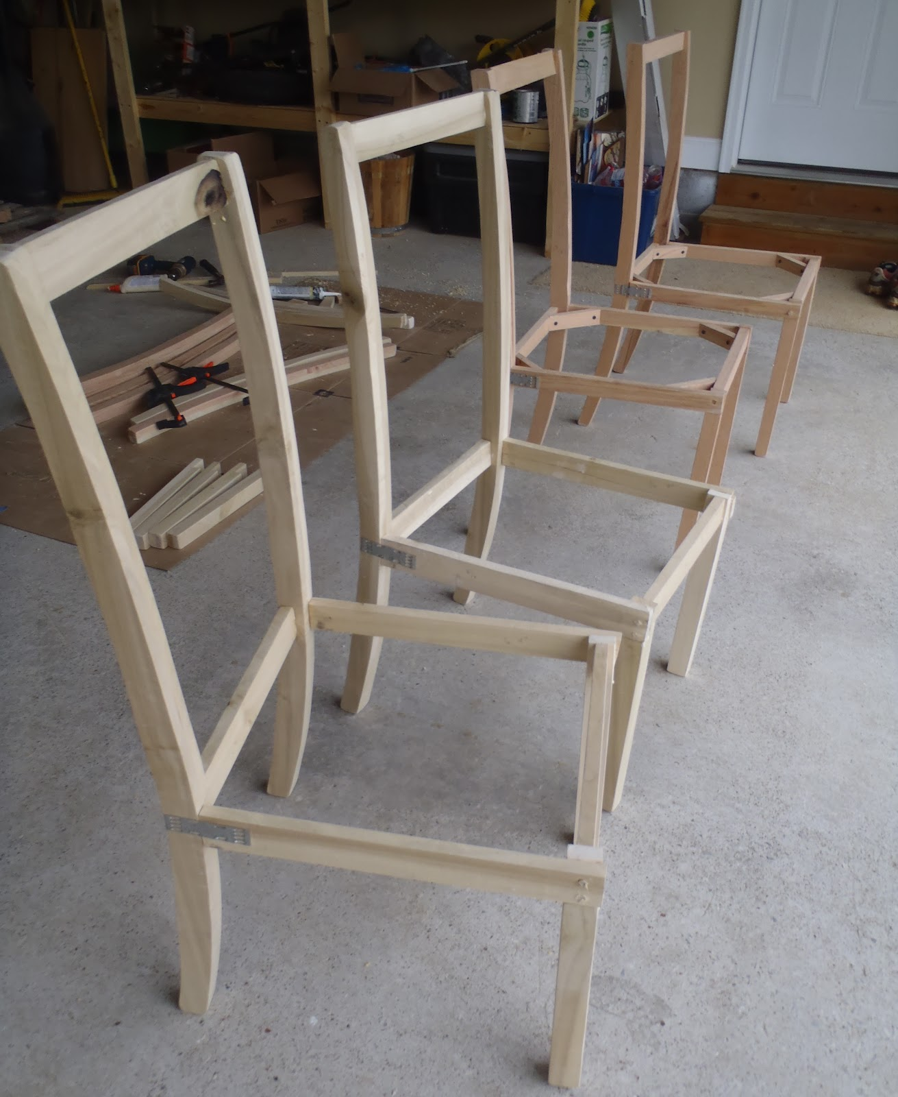 How To Make A Plywood Chair Modern Armchairs South Africa Lazy Liz On Less Dining Chairs Halfway Done