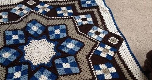 Free Crochet Pattern For Star Afghan : Crochet For Children: Blue Star afghan - Free Pattern