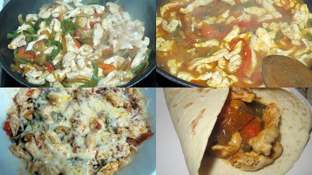 cocinitas 1 - Fajitas de pollo