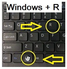 Tekan Windows + R