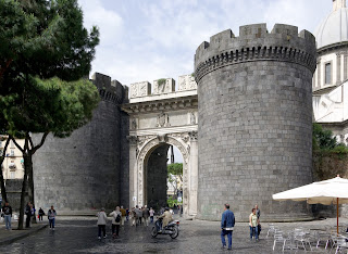 Porta Capuana in Naples used to be part of the city's  ancient Aragonese walls