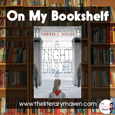A Night Divided by Jennifer Nielsen is historical fiction set in Berlin, Germany just as the Berlin Wall is built in 1961. Though she is only twelve, Gerta, the main character, and her brother Fritz, not much older, already have government files that will determine their fate in life. Their apartment is bugged and just looking at the wall on her way to school earns Gerta reprimand from the soldiers who guard it. Considering these conditions, it is amazing that Gerta and Fritz would even consider tunneling beneath the wall to be reunited with their father and brother. Gerta isn't fearless, but nothing can stop her from reaching her goal once she starts. Read on for more of my review and ideas for classroom application.