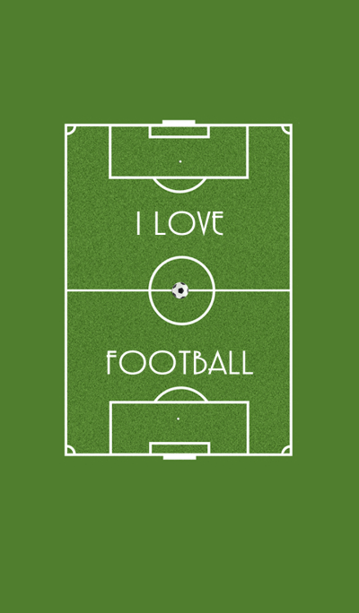 Football field I love football