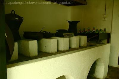 Bangunan Belakang Dapur Dengan Peralatan Masak Jaman Dulu