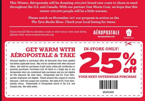 photograph relating to Aeropostale Printable Coupons named Aeropostale Printable Discount codes September 2015
