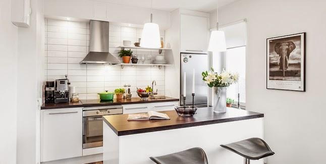 Decotips distribuir la cocina seg n su geometr a for Cocinas blancas pequenas
