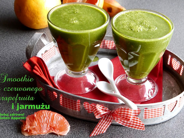 Zielone smoothie z czerwonego grapefruita i jarmużu - Czytaj więcej »