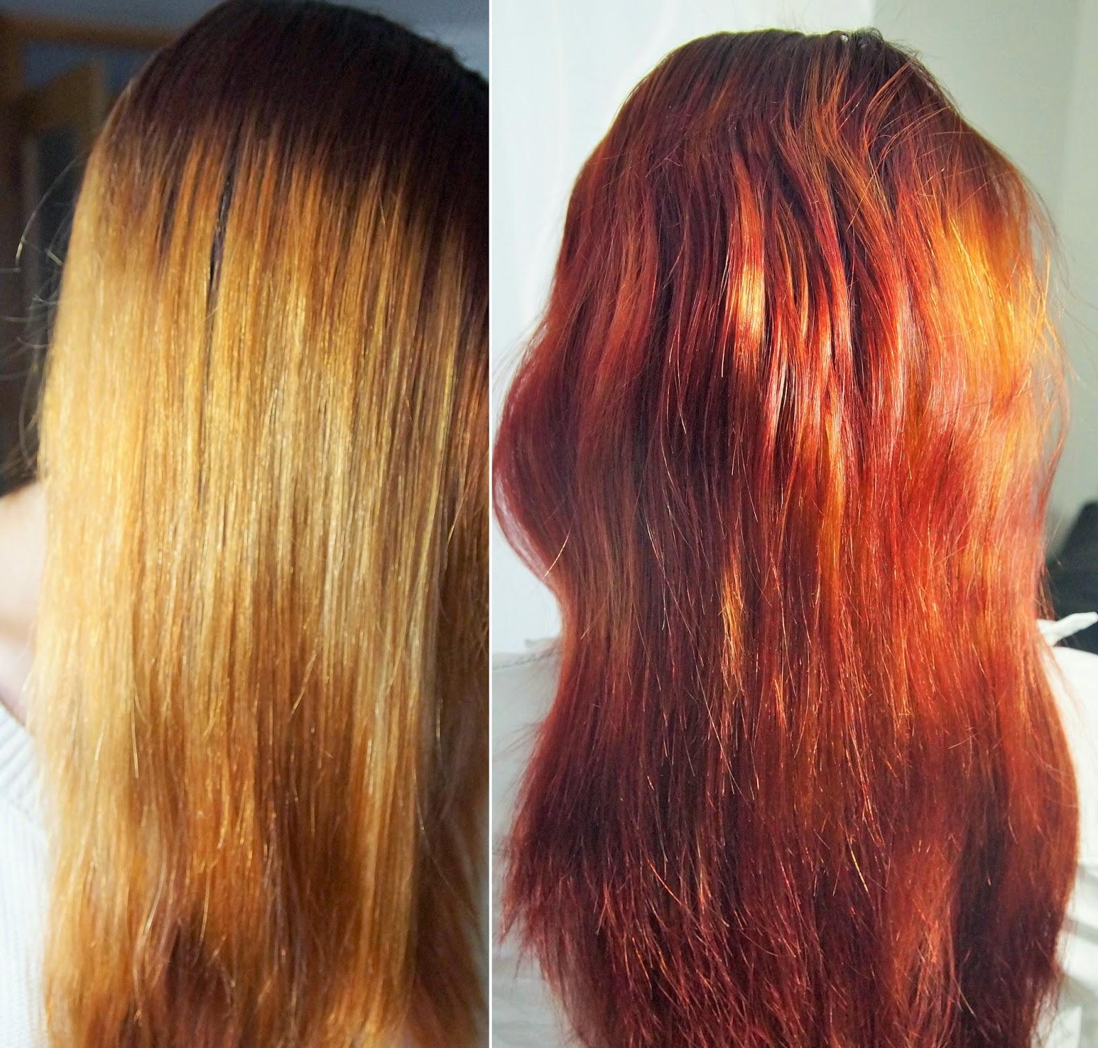 Neue Haarfarbe Garnier Olia Farbkraft Durch öl Kaschmirrot
