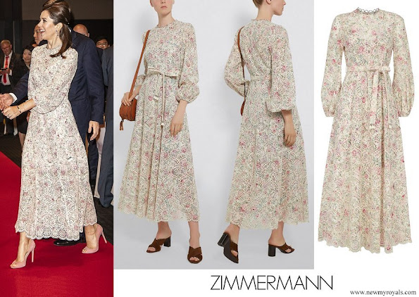 Crown Princess Mary wore Zimmermann floral eyelet dress