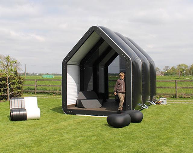 the black house inflatable prefab